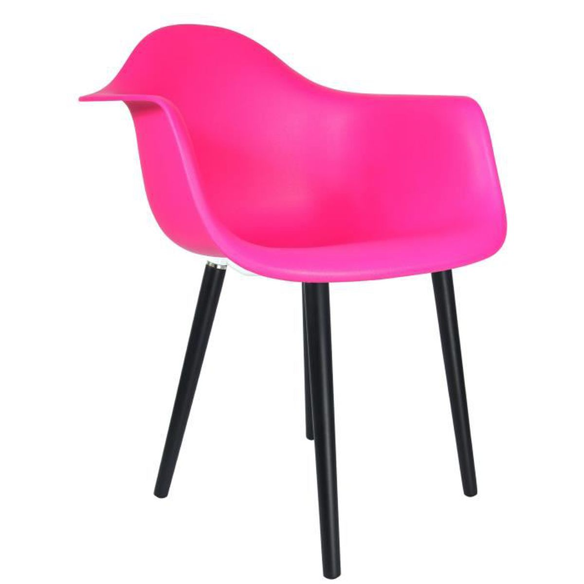 chaise privee chaise atw fuchsia noir achat vente chaise cdiscount. Black Bedroom Furniture Sets. Home Design Ideas
