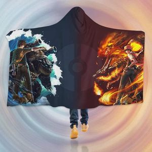 COUVERTURE - PLAID 3DHooded Blanket for Pokemon 8239  Couverture à Ca