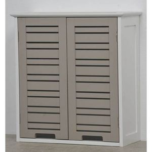 ARMOIRE DE TOILETTE Element haut - 2 portes TAUPE MIAMI