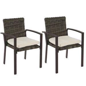 CHAISE Lot de 2 chaises de jardin polyrotin Palma II empi