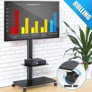 FIXATION - SUPPORT TV Chariot Meuble TV avec Roulette Support Télé Pied