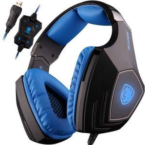 CASQUE - ÉCOUTEURS SADES A60 casque gaming ps4  - Audio Haute Qualité