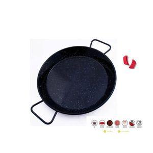 PLAT À PAËLLA Premium Paella Induction Revêtement Marbre Avec Ma