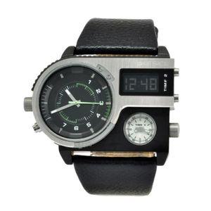 MONTRE Montre Bracelet DIESEL 57mm bracelet en cuir noir