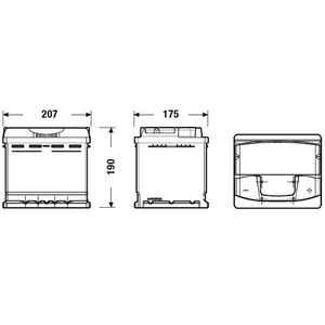 BATTERIE VÉHICULE FULMEN Batterie auto XTREME FA530 (+ droite) 12V 5