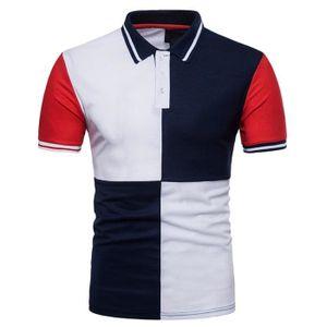 T-SHIRT Polo Homme Contraste Couleur Marque Golf Sport T-S