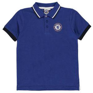 MAILLOT DE FOOTBALL SOURCE LAB Polo football Chelsea FC - garçon - ble