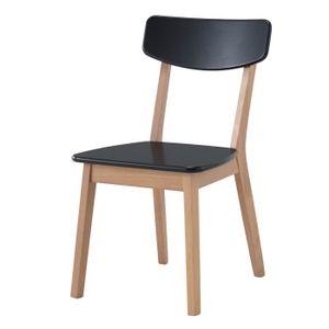 CHAISE Chaise contemporaine OSLO coloris noir en hêtre. L