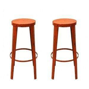 tabouret de bar factory rouge lot de 2 achat vente. Black Bedroom Furniture Sets. Home Design Ideas