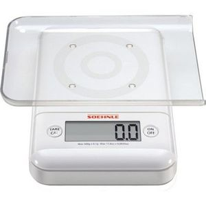 "Soehnle Balance de cuisine balance /""FIESTA/"" 5 kg 1 G gris cuisine Balance pesage professionnel"