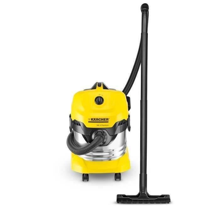 KÄRCHER Aspirateur eau-poussière WD 4 Premium - Cuve inox 20 L