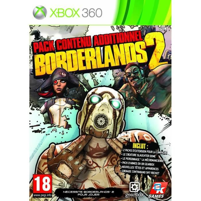JEUX XBOX 360 BORDERLANDS 2 PACK CONTENU ADDITIONNEL / XBOX 360