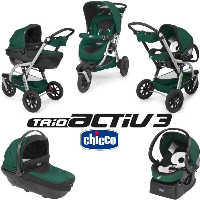 POUSSETTE  CHICCO Trio Activ3 Evergreen