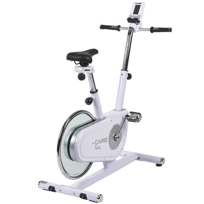 CARE Vélo d'appartement Fusio 2 -Masse d'inertie de 10 kg 16 programmes et 7 fonctionnalités