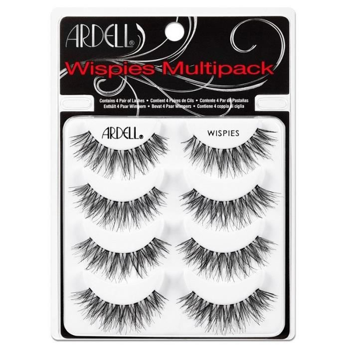 faux cils multipack ardell wispies - 4 paires