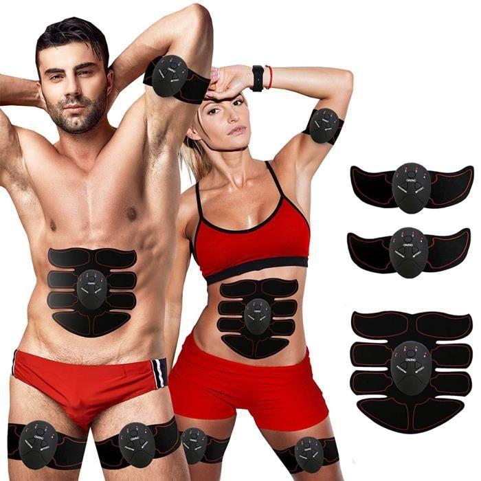 Electrostimulateur Musculaire,Ceinture Abdominale Electrostimulation, 4 Modes pour Stimulateur Musculaire,Rechargeable