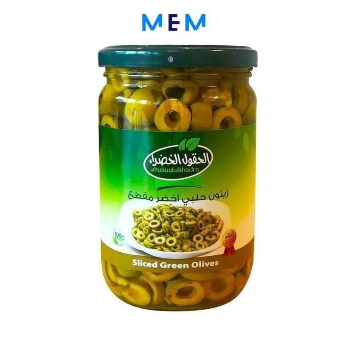Olives vertes en tranches 600 gr