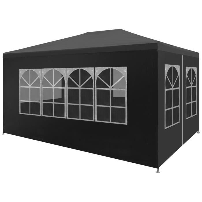 MMCZ® Tonnelle de Jardin Barnum Style Moderne - Belvédère Chapiteau de jardin 3 x 4 m Anthracite ❤2275