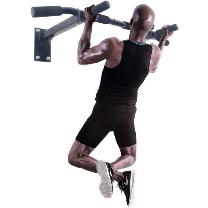 ISE Barres de Traction Murale Barre de Fitness Fixation plafond Exercices Pull Up Bar SY-165