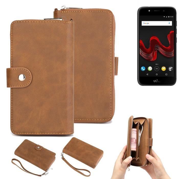 Étui portefeuille pour téléphone portable Wiko WIM Lite Housse de protection pare-chocs 264597