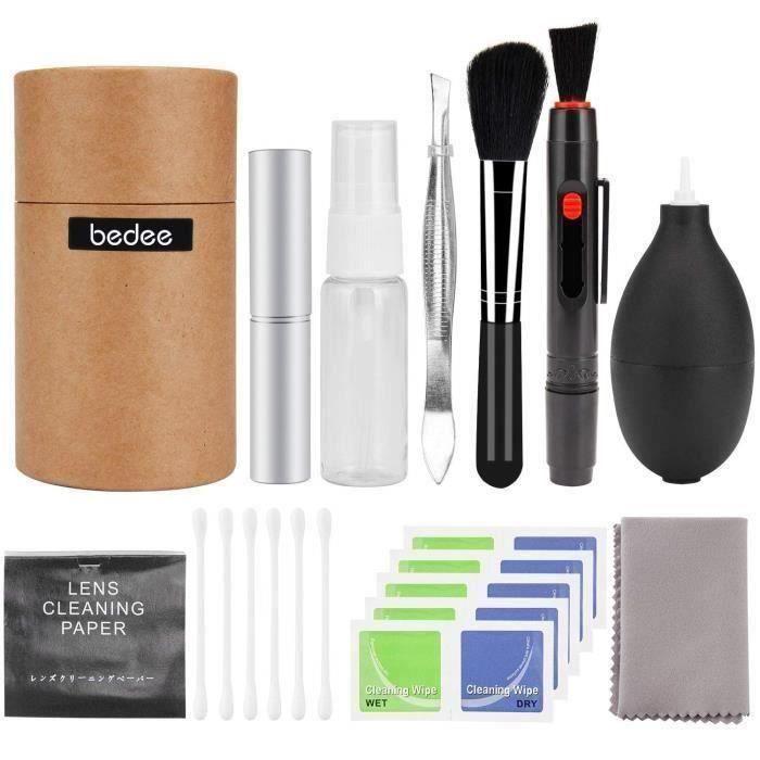 bedee 25PCS Kit de Nettoyage de Caméra (avec boite)pour appareil photo reflex numérique Canon, Nikon, Pentax, Sony et plus