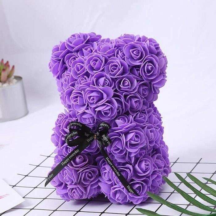 Rose Flower Saint Valentin Ours Des Rose pour Cadeau d'anniversaire, Cadeau de la Saint-Valentin, Décoration de Mariage w798 *2XD