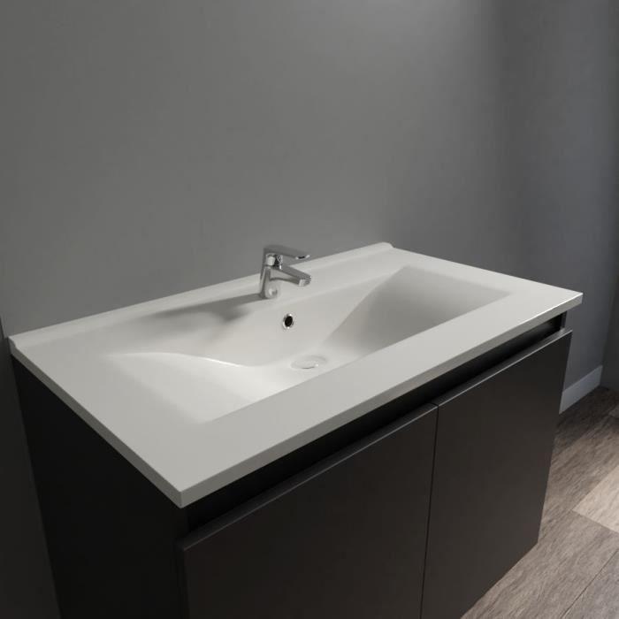Plan vasque en céramique CERAPLAN - 80 cm
