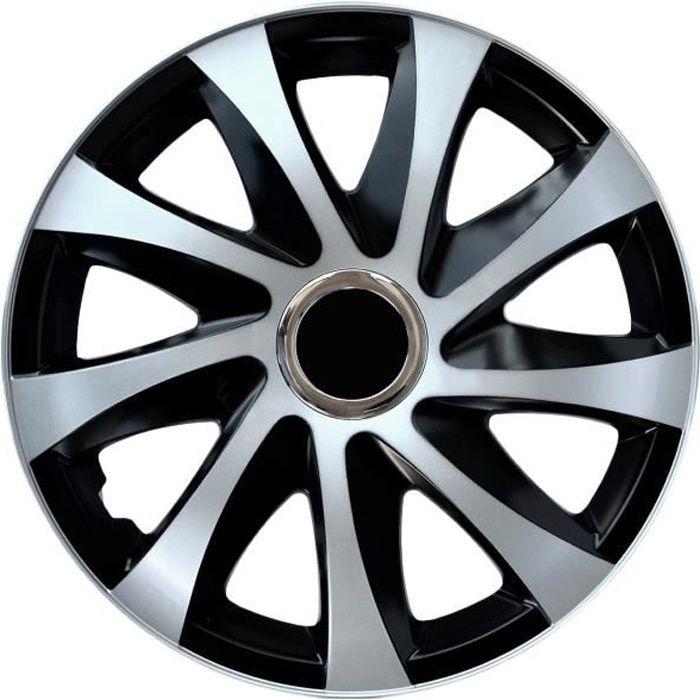 Enjoliveurs de roues 15- Drift Extra moderne argent NRM