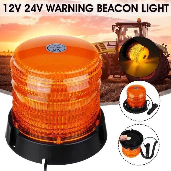 Gyrophare LED Magnetique 30-LED Balise de Signalisation Stroboscopique Lampe d'Avertissement 12v 24v Top56154