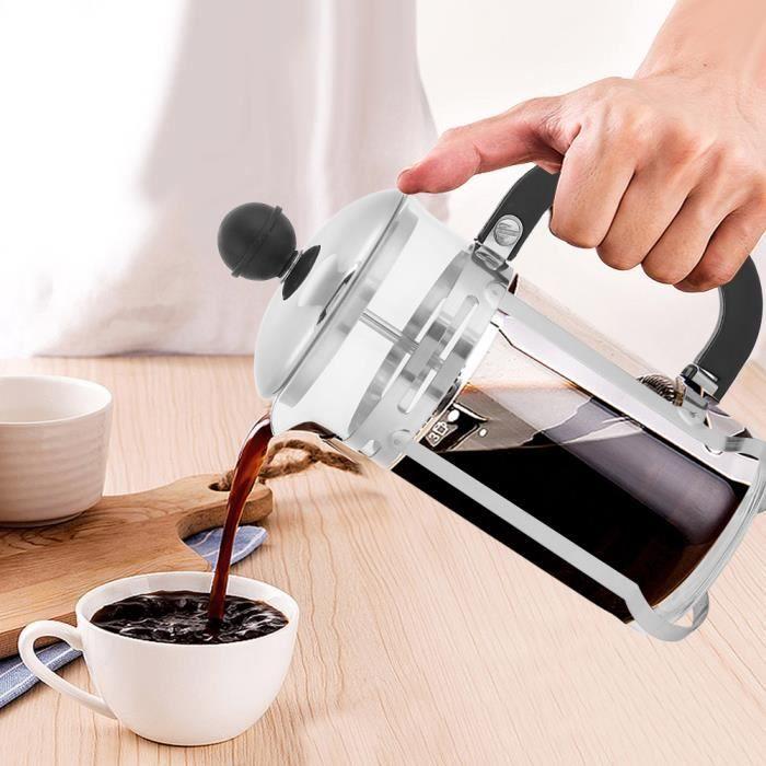 Dioche piston de presse pour cafetière 350 ml en acier inoxydable en verre creux cafetière filtre français thé cafetière presse