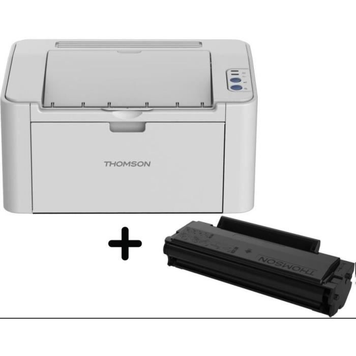 THOMSON Imprimante laser monochrome - Wifi - 23 pages / minute- Résolution: 1200*1200 + Toner monochrome (1600 p)