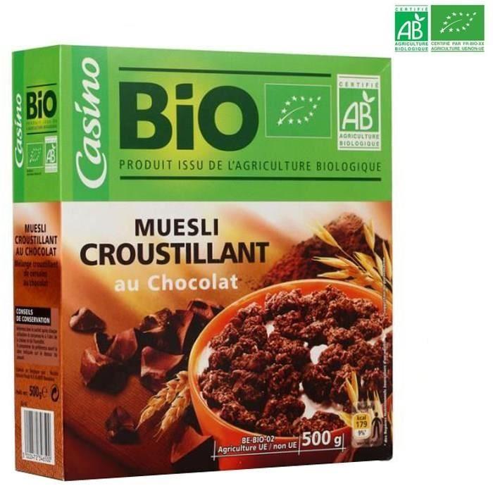 BRUEGGEN MUHLENWERKE Muesli croustillant au chocolat BIO - 500 g