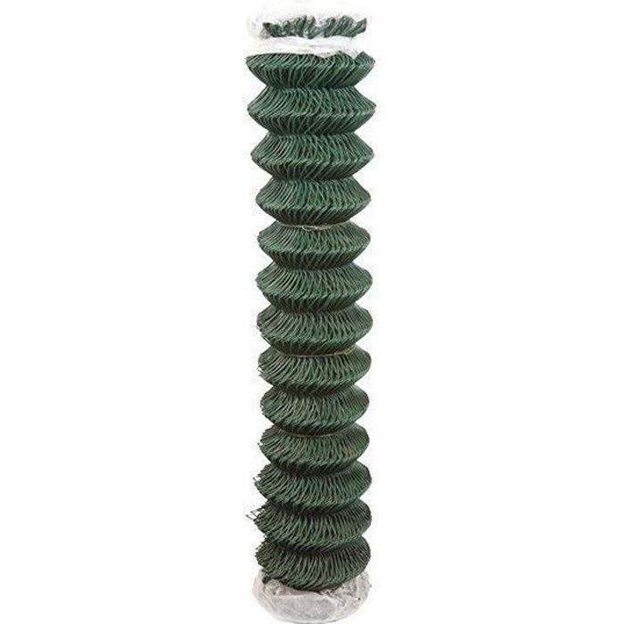 Grillage vert simple torsion plastifie - l. (m):25 h. (m):2 maille (mm):50 x 50