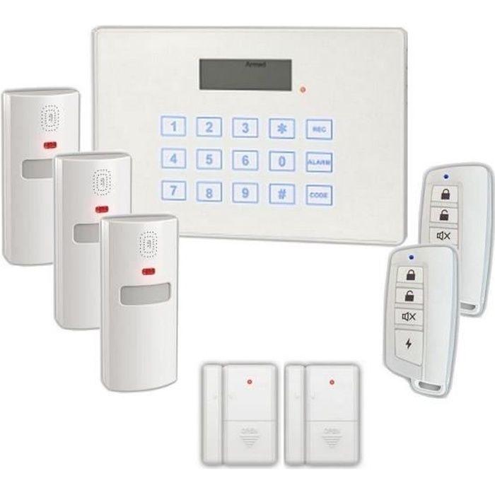 VOLTMAN Pack Alarme maison sans fil transmetteur téléphonique RTC