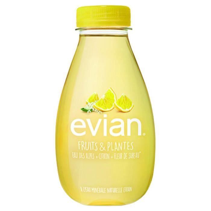 Evian - Evian Citron et Sureau 37cl (pack de 12)