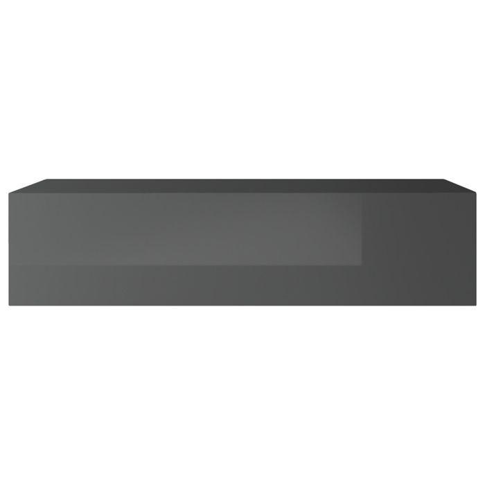 Miliboo - Élément mural TV horizontal laqué gris brillant ETERNEL