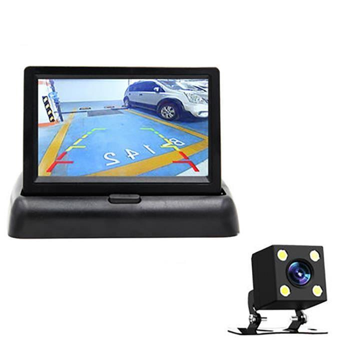 Kit de caméra de recul et Moniteur pour Voiture, 4,3 Pouces LCD Moniteur Vue arrière de Voiture Système+caméra de Vision Nocturne In