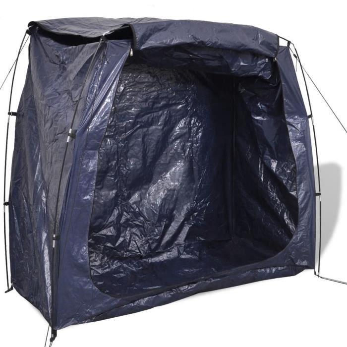 Tente de rangement pour vélo 200 x 80 x 150 cm Bleu