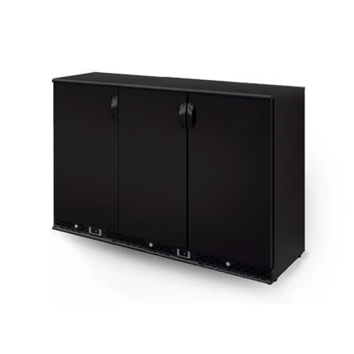 frigo bar professionnel 100 skinplate noir 3 portes pleines 330 litres 425w 230v. Black Bedroom Furniture Sets. Home Design Ideas
