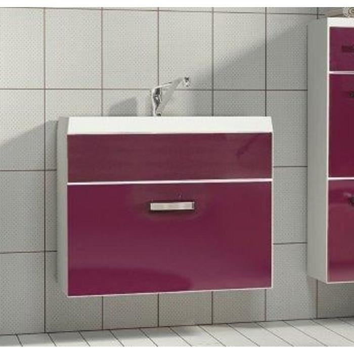 meuble sous lavabo salle bain evo violet 1 tiro achat vente meuble vasque plan sous. Black Bedroom Furniture Sets. Home Design Ideas