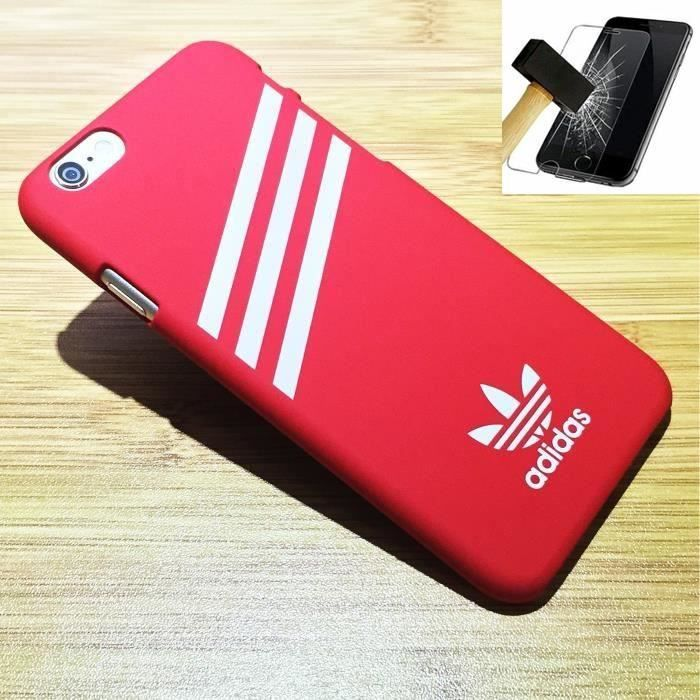 pack apple iphone 5 5s se adidas coque rouge