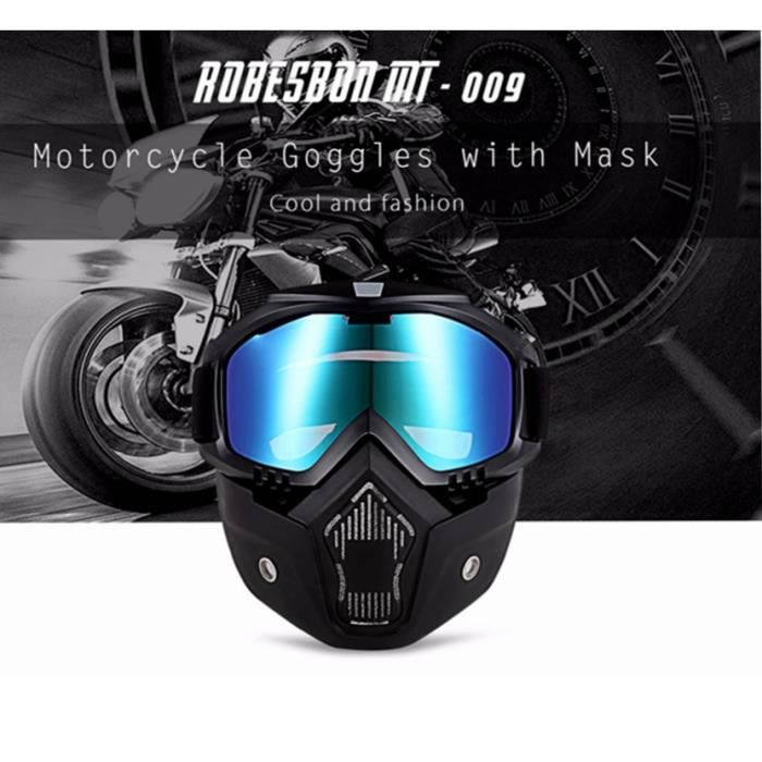 casque moto avec lunettes de protection amovibles filtration la poussi re au sable achat. Black Bedroom Furniture Sets. Home Design Ideas