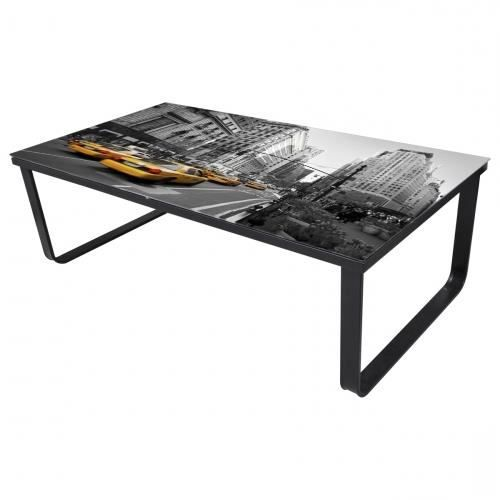 table basse verre new york