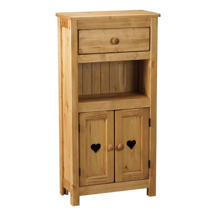 meuble rustique 2 portes 1 niche 1 tiroir achat. Black Bedroom Furniture Sets. Home Design Ideas