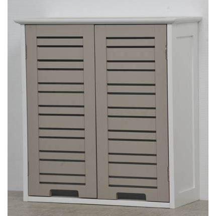 element haut 2 portes taupe miami achat vente armoire de toilette element haut 2 portes. Black Bedroom Furniture Sets. Home Design Ideas