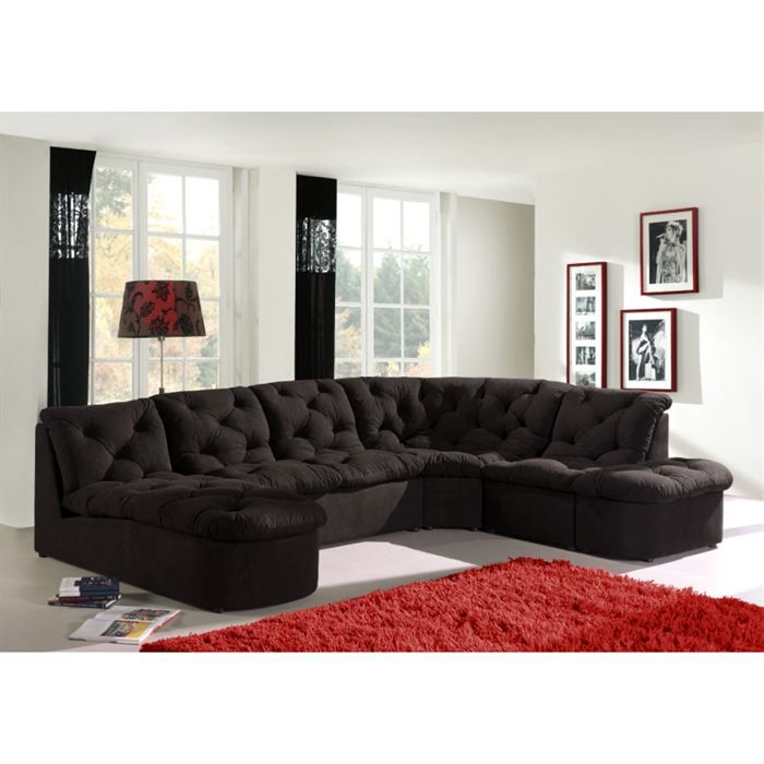 canape thai 2 angles achat vente canap sofa divan cdiscount. Black Bedroom Furniture Sets. Home Design Ideas