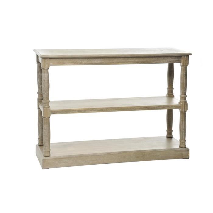 Console 2 tag res bois naturel firenze achat vente console console 2 ta - Console bois naturel ...