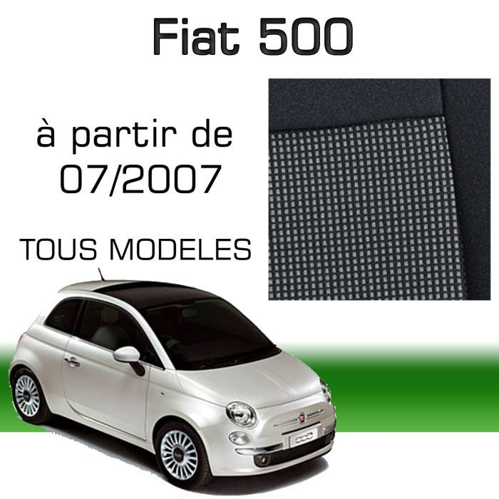 housse sur mesure fiat 500 partir du 07 07 achat. Black Bedroom Furniture Sets. Home Design Ideas