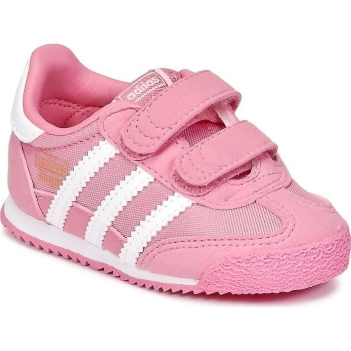 f18e5b6e7e599 ADIDAS ORIGINALS Baskets Dragon OG Chaussures Bébé Fille Rose et ...