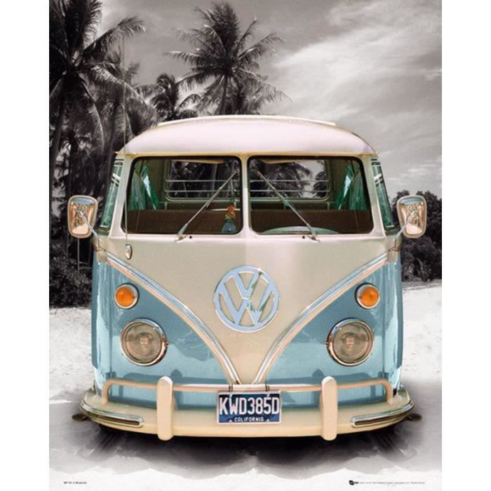 poster combi vw love transporter achat vente affiche. Black Bedroom Furniture Sets. Home Design Ideas